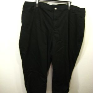 Catherines Black Capri Womens's Size 26W